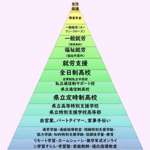 発達に心配がある子どもの進路一覧ピラミッド