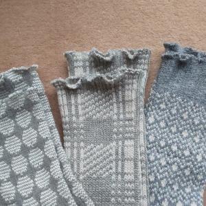 足のむくみに靴下のくちゴムをカットしてミシンでジグザグにかがり縫いし締め付けない靴下を作りました