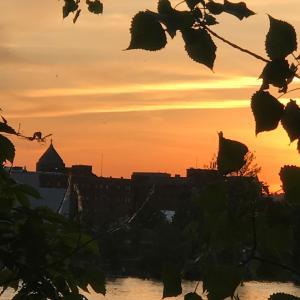 セントローレンス川・トワイライトの夕焼け