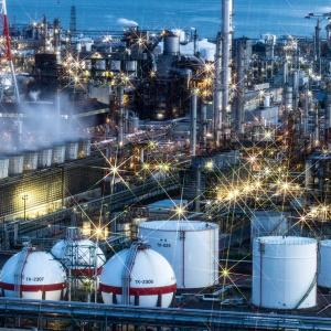 Place called holy ground of factory night view