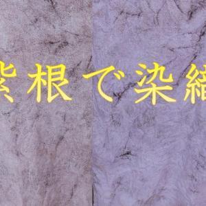 【紫根(しこん)染織】雪花・群雲で染めてみる。