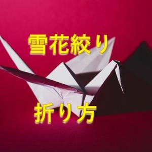 【雪花模様】染める場合の折り方を説明