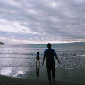 海で癒され美味しいご飯で満足(*´▽`*)
