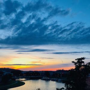 ヴィスワ川の夕暮れ!ポーランド最終日