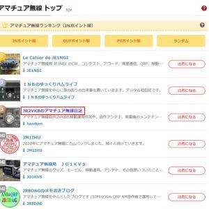『日本ブログ村 』アマチュア無線のカテゴリで第3位にランクイン
