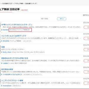 日本ブログ村の人気記事で第1位になりました。