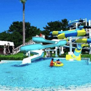 【福岡最大級プール】サンシャインプール完全攻略最新版!スライダーのある海の中道の安いプール