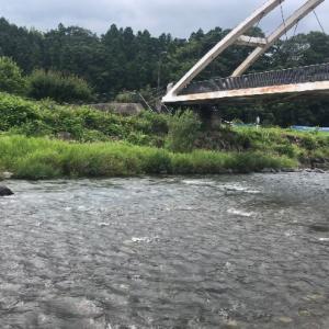 秋川で釣り