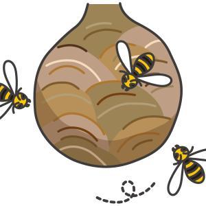 逃げ惑う。秘密兵器で蜂と戦う。