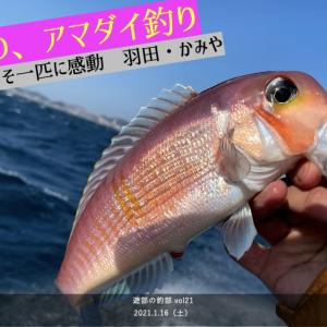 暴風×荒波。時化(シケ)の日は、どうしたらアマダイが釣れるのか。試行錯誤した上での一匹は本当に嬉しかった 遊部の釣部 2021年1月16日(土)羽田・かみや→久里浜沖