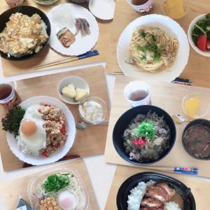 今週のお料理ing男子ランチ(役割分担付き)