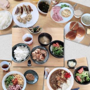 今週のお料理ing男子ランチメニュー(役割分担つき)