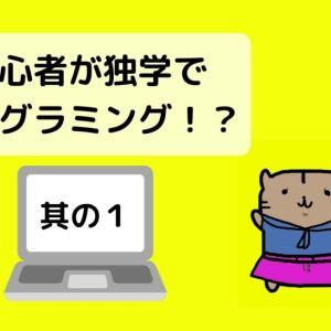 プログラミング初心者の独学日記 〜其の1〜