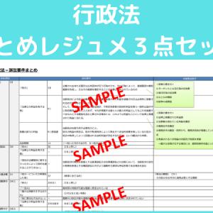 【司法試験・予備試験】行政法のまとめレジュメ3点セット【販売】