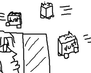 もしもゴミ箱が自力で動いてくれたら…を想像してみた