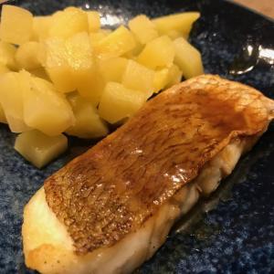 鯛のバター醤油ソース