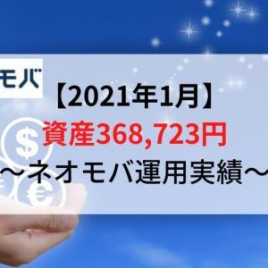 【ネオモバ運用実績】資産額368,723円(2021年1月)