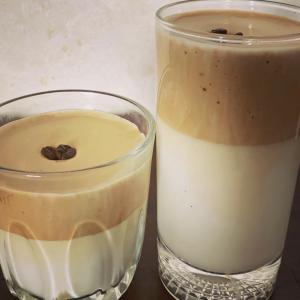 話題のダルゴナコーヒーをインスタントコーヒーを使わないで作る!