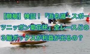 【競艇】検証!『浜名湖・スポーツニッポン菊花杯』全レースどの3艇ボックスが利益が出るの?