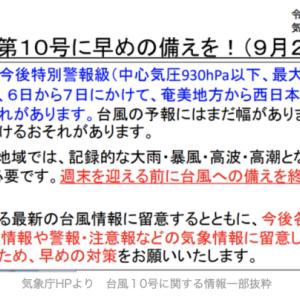 厳重警戒(台風について)
