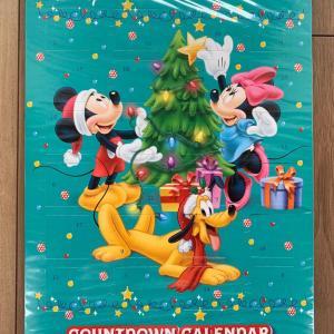 チョコ入り!ミッキーのクリスマスカウントダウンカレンダー