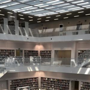 ドイツの美しい図書館・コロナ禍の様子〜Stadtbibliothek Stuttgart/シュトゥットガルト市立図書館〜
