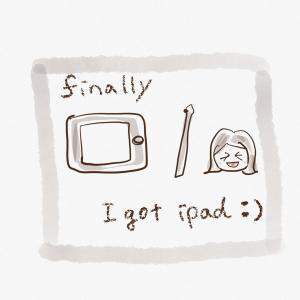 ついにiPad mini買った!お絵かき楽しい♪