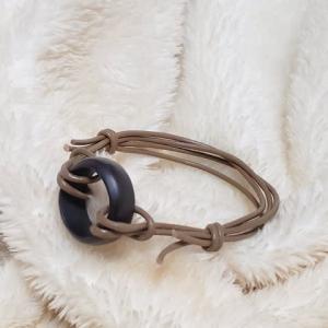 Y016~スネークウッドリングのブレスレット