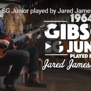 ヴィンテージの SG ジュニアを弾くジャリッド・ジェームス・ニコルズ