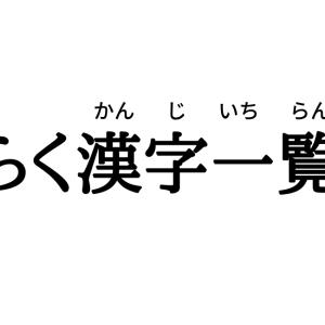 ひらく漢字一覧表