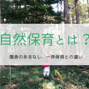 自然保育とは?園舎のあるなし、一斉保育との違い