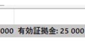 CXCの無料25000円ボーナス入金完了