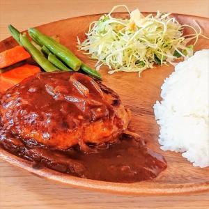 カフェバー パイプライン@大阪・東大阪【デミグラス・ハンバーグセット】3種のソースが選べるハンバーグランチ♪