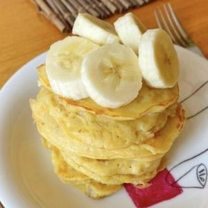 米粉のバナナパンケーキ