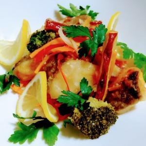 真鱈とサツマイモの南蛮漬け【すし酢を使って簡単お酢料理】