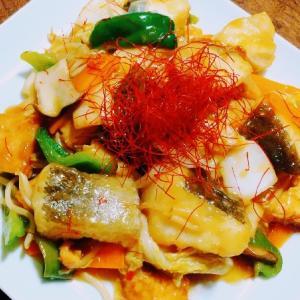 真鱈と厚揚げ豆腐の『南蛮風 』甘酢炒め【すし酢で簡単お酢料理】