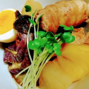 柔らか豚ばらロールと林檎のサッと煮【リンゴのレシピ】