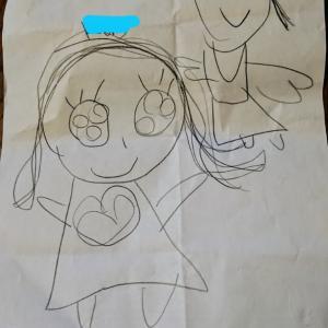 インター年中の次女さんがもらった、かわいいラブレター