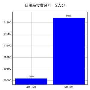 5-6月 食費日用品合計 31,922円