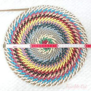 余りひものコイリング編み、再開!