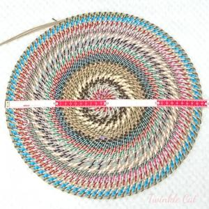 今日のコイリング編みと最近のくじ運