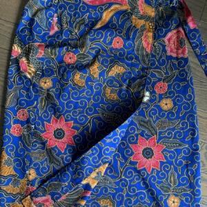 アジアンな巻きスカート
