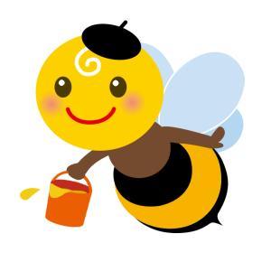 ハリネズミのおもち ハチ(蜂)になる。