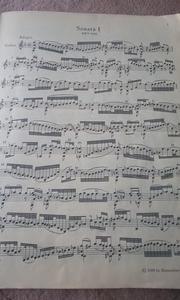 バッハ/アダージョとフーガ BWV1001