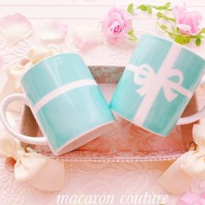 ♡ティファニー風リボンマグカップ♡