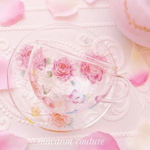 ガラスティーカップ&ソーサー