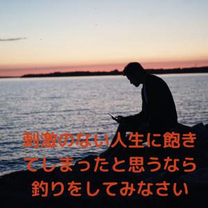 刺激のない人生に飽きてしまった【釣り】があなたの心と身体を刺激する