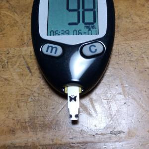 6月1日(月)の血糖値