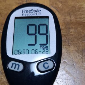 今朝の血糖値と昨日の夕食