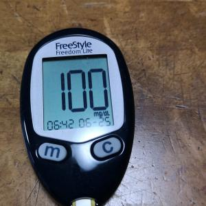 今朝の血糖値